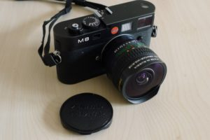 Leica M8 Ranginder Camera with Fisheye Lense MC-Zenitar-M 16/2.8