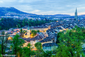 Berne Skyline at Evening Rise - Berne in HDR