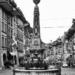 Kreuzgass Fountain - Berne in Black & White