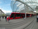 Berne Cental Station Tram with Baldachin Roof - Berne Fisheye