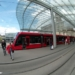 Berne Cental Station Tram with Baldachin Roof