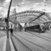 Bahnhofplatz with Baldachin in B&W - Berne Fisheye