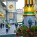 Xmas Deco at Simson Fountain - Kramgasse Berne