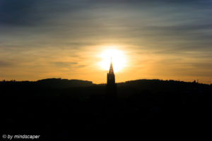 Berne Skyline Sunset - November Sky Story