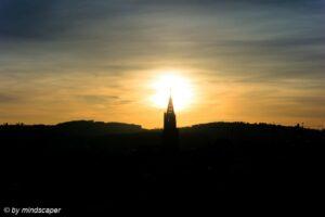 Berne Skyline Sunset - November Sky Story