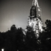 Minster Tower with Lantern Berne by Night in Black Amd White