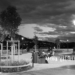 Newly Reopened And Renovated Bundeshausterrasse - Berne by Night in Black And White