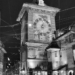 Zytglogge West Front - Berne by Night in Black & White