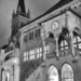 City Hall & Peter And Paul Church - Berne by Night in Black & White