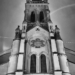 Peter & Paul Tower Front - Berne by Night in Black And White