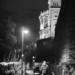 Night Walk Below Bundeshaus - Berne By Night in Black And White