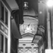 Bundeshaus Across The Small Alley - Berne by Night in Black And White