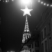 Xmas Star Above Berne Minster - Berne by Night in Black & White