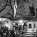 Glühwein at Oscar Elch at Ringgenpark - Berne by Night in Black & White