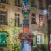 Justice Fountain with Xmas Tree - Berne by Night