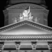 Front Face Part of Bundeshaus - Berne by Night in Black & White