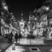 Kramgasse Xmas Light in Black & White - Berne by Night