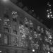 Loeb Xmas Lights - Berne by Night in Black & White