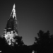 Berne Minster Tower - Berne by Night in Black And White