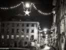 Berne Minster Square Advent Lights - B&W by Night