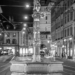 Piper Fountain - Berne by Night in Black And White