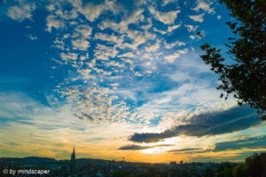 Berne Sunset in October - Sky Story