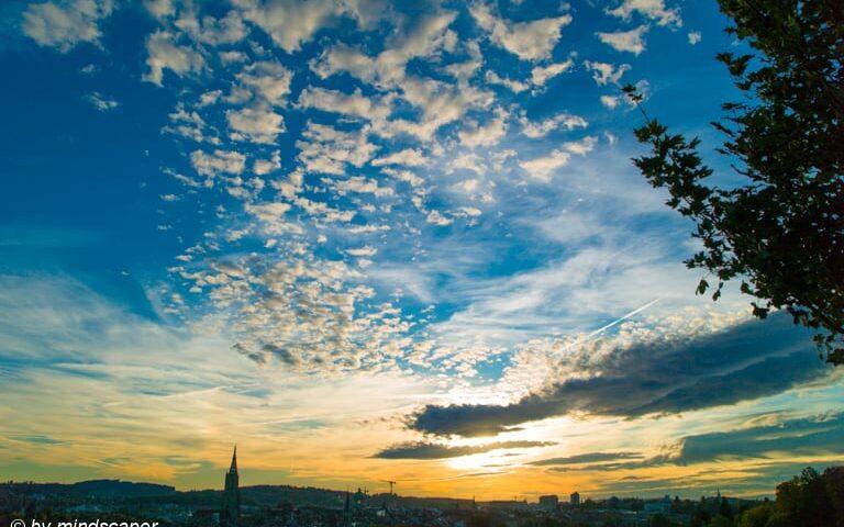 Berne Sunset in October - Sky Story