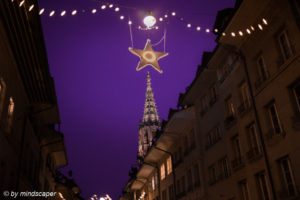 Xmas Star Above Minster Tower - Advent Berne