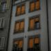 Orange Windows while Snowing - Berne in Winter