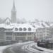 Snowing at Nydegg Church and Untertor Bridge - Berne in Winter