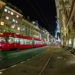 Tramway in Spitalgasse - Berne Fisheye in HDR by Night