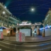 Xmas Market at Waisenhausplatz - Berne Fisheye by Night in HDR