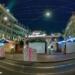 Xmas Market at Waisenhausplatz - Berne Fisheye by Night in HDR