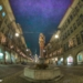 Simson Fountain Kramgasse - Berne Fisheye HDR by Night