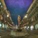 Simson Fountain Kramgasse - Berne Fisheye HDR by Night