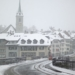 Snowing at Nydegg Church and Untertor Bridge - Berne in Winter