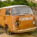 Disused Orange VW Van - Hidden Vintage Car