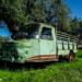 Disused Green 3-Weel Van - Hidden Vintage Car
