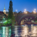 Aare & Nydegg Bridge - Berne in HDR by Night