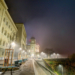 Bundesterrasse in Fog - Berne by Night in HDR
