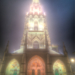 Minster Front Face in Fog, HDR - Berne by Night