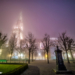 Berne Minster in the Fog - Berne by Night in HDR