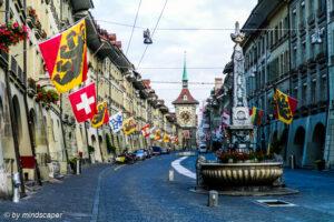 Berne Kramgasse Flagged - Berne Cityscape