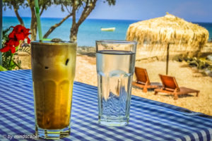 Coffee Frappé at the Beach - Coffee Time