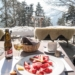 Swiss Dried Meat Plate Break in Winterlandscape