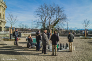 Chess Players at Bundeshausterrasse - Berne Street People
