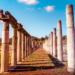 Columns of Stadion - Greek Archaeological Site