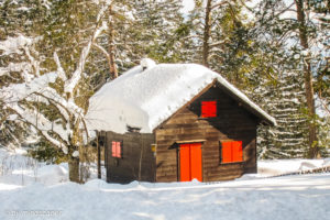 Small Cottage in Winterlandscape - Winter Season