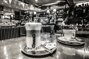 Un Caffè Italiano - Dolce Vita - Coffee Places in Black & White