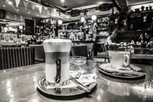 Un Caffè Italiano - Dolce Vita - Coffee Places in Black & White
